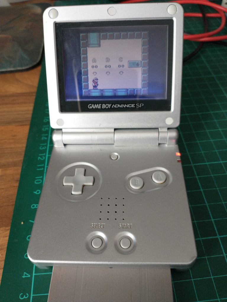 GBA SP playing Super Mario Land 2